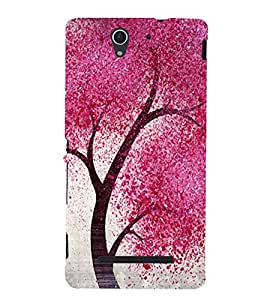Patterned tree Back Case Cover for Sony Xperia C3 Dual D2502::Sony Xperia C3 D2533