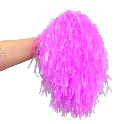 2 stk Pompons Tanzwedel Cheerleader Pom Pom Viele Farben Party #402, Farbe:Rosa