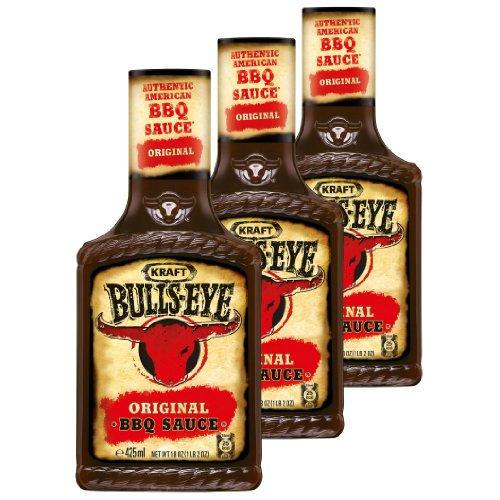 Bull´s Eye BBQ Sauce Original, 3er Pack, Grillsoße, 3 x 425g Flaschen
