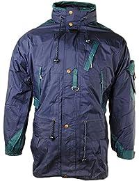 Men's Double Layer Windproof Concealed Hood Multi Pocket Cargo Jacket Coat