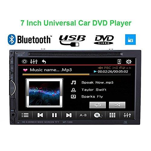 "KKmoon 7\"" TFT Reproductor Multimedia 2 Din DVD/USB/SD Pantalla HD Bluetooth Radio FM Entretenimiento para Coche Universal con UI Dise?o Multilenguaje"