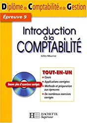 Introduction à la comptabilité : Epreuve 9, Diplôme de Comptabilité et de Gestion (1Cédérom)