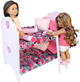 """Doll Bunk Bed Set For American Girl Doll or 18"""" Doll. Complete Set"""