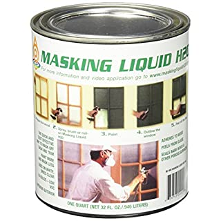 ASSOCIATED PAINT Available 157026 80-400-4 H20 Masking Liquid, 1 Quart, Clear