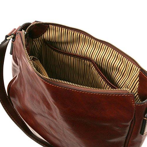 Tuscany Leather Cristina - Borsa a tracolla in pelle Testa di Moro Borse donna a tracolla Rosso