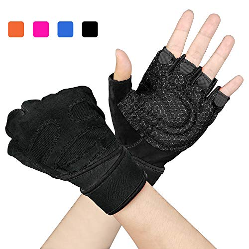 Arteesol Fitness Handschuhe, Herren Damen Training Sport Handschuhe für Grip Gewichtheben Training Fitness Bodybuilding Training und Outdoor Sports mit Adjustable Handgelenkstütze Palm Protection