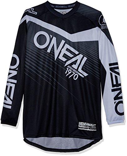 O'Neal Element Racewear MX Motocross Jersey Shirt Enduro Offroad Motorrad Quad Cross Erwachsene, 0008, Farbe Grau, Größe M
