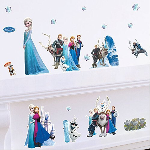 Clest F&H wall stickers Frozen Queen Elsa Adorable & Sweety wall Decal DIY Family Fashion Wall Decoration Sticker by 2015_3pag -