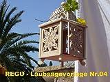 REGU Laubsägevorlage Orientalische Laterne Nr. 004