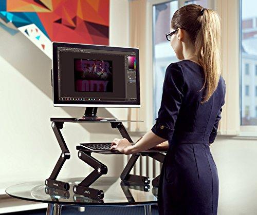 Lavolta Ergonomischer Laptop-Ständer/Frühstückstablett/Buchständer, Schwarz - 4