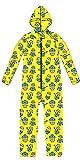 Minions Ich einfach unverbesserlich Overall Schlafanzug in Coral Fleece mit Reisverschluss und Kapuze in Gr.98 ( 3 Jahre)