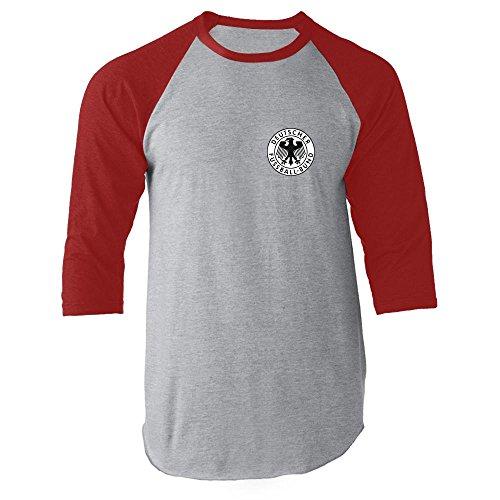 Pop Threads Herren Langarmshirt Rot