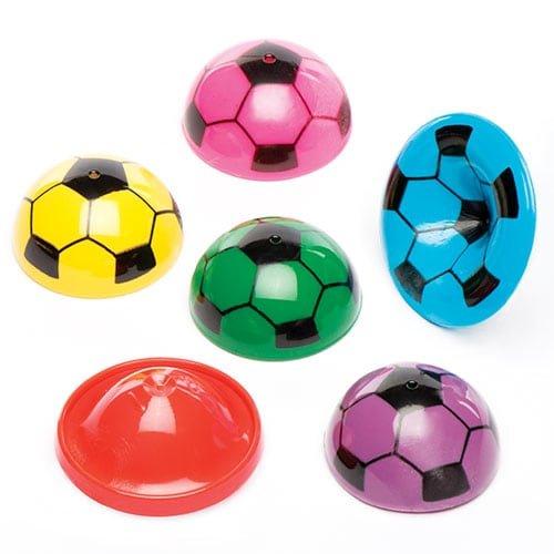 Lot de 12 Mini Puces Sauteuses Ballons de Foot - Idéal comme cadeau de pochettes-surprises.