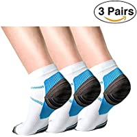 Plantarfasziitis-Socken, 3er-Packung, Fußpflege, Kompressionsstrümpfe, Laufsocken, für Damen und Herren, lindern... preisvergleich bei billige-tabletten.eu