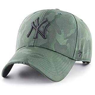 47Brand MVP Adjustable Cap NY Yankees B-JGSWM17TVS-DG Grün Schwarz, Size:ONE Size