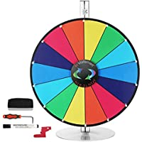Editable 24 Inch Color Prize Wheel of Fortune Trade Show Spin Game Party Pub Table Top by Voilamart