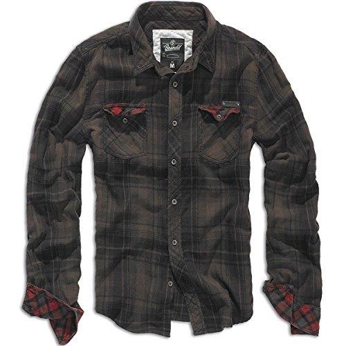 Brandit Check Shirt Duncan M Schwarz/Braun