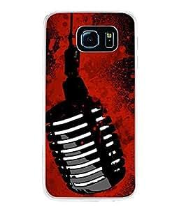 PrintVisa Designer Back Case Cover for Samsung Galaxy S6 Edge :: Samsung Galaxy S6 Edge G925 :: Samsung Galaxy S6 Edge G925I G9250 G925A G925F G925Fq G925K G925L G925S G925T (golden blood red black party stylish sound)