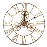 K9CK Orologio da Parete Grande Orologio da Muro Vintage 60cm Retro Decorazione Orologio da Parete Vintage per Soggiorno Casa Ufficio