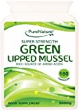 180 Green Lipped Mussel Super Strength and Best Quality Quick Release Capsules Supports the Maintenance of Healthy Joints and Movement- AMAZING RESULTS - See Customer Reviews -100% QUALITY ASSURED MONEY BACK GUARANTEE- FREE UK DELIVERY