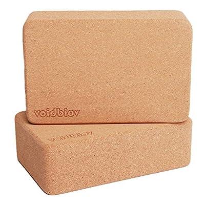 Nachhaltige 100% Natural Cork Yoga Blöcke (griffig, rutschfeste Oberfläche)
