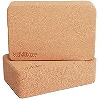 voidbiov Juego de Bloques de Corcho para Yoga 22,5 cm x 14,5 cm x 7,6 cm 2 Piezas