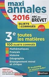 MAXI Annales ABC du BREVET 2016