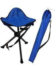 Plegable Picnic Pesca Triángulo del trípode del asiento al aire libre Floding taburete silla ultraligero silla plegable portátil pesca caza Camping plegable silla HEAVY DUTY asientos