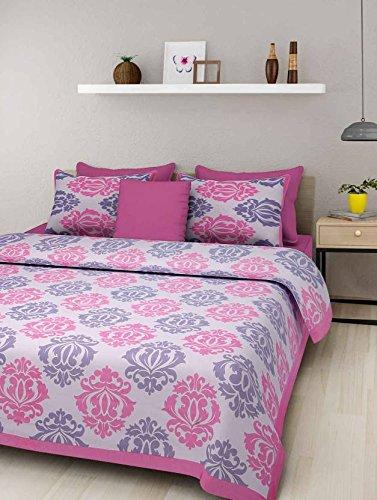 Jaipuri Style 100% Cotton Bedsheet Double Rajasthani Tradition King Size Double Bedsheet...