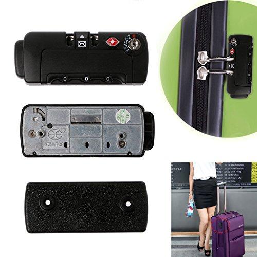 Manyo TSA Zahlenschloss Mit 2 Schrauben, 3-Stellige Vorhängeschloss, 75x30x13.4mm, Ideal für Reisegepäck und Koffer.