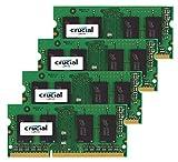 """Crucial 32GB Kit (8GBx4) DDR3 1866MHz 204-pin di Apple di memoria di aggiornamento per la fine 2015 iMac 27 """"DDR3 1867Mhz PC3-14900 SODIMM 2RX8 CL13 1.35V RAM"""