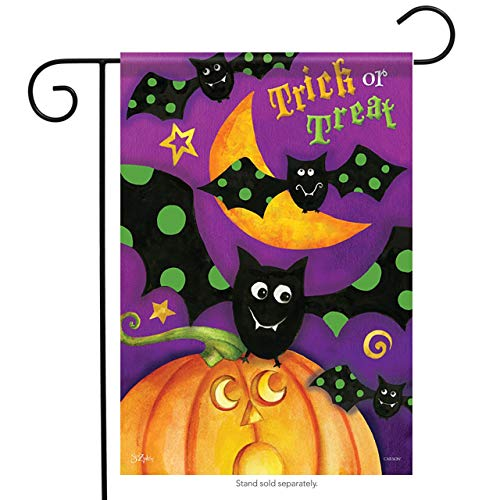 ASKYE Trick or Treat Bats Garden Flag Halloween Pumpkin for Party Outdoor Home Decor(Size: 12.5inch W X 18 inch H) (Kit Bat House)