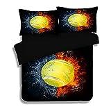 SASA 3D Soft Comfort bettwäsche Schlafzimmer Basketball Print Bettbezüge mit Kissenbezüge 3 Teilige für Kinder Teen Geschenk, C, 200cmx230cm