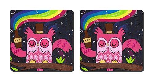 luxcase Design Rainbow Owl Creative Küchengeschirr Kork Square Pad Matte Tischset Tisch oder in der Küche Heat Mat -