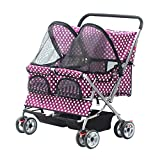 Ludage Stable pet stroller Large two-seater pet car, small and medium-sized cat and dog car