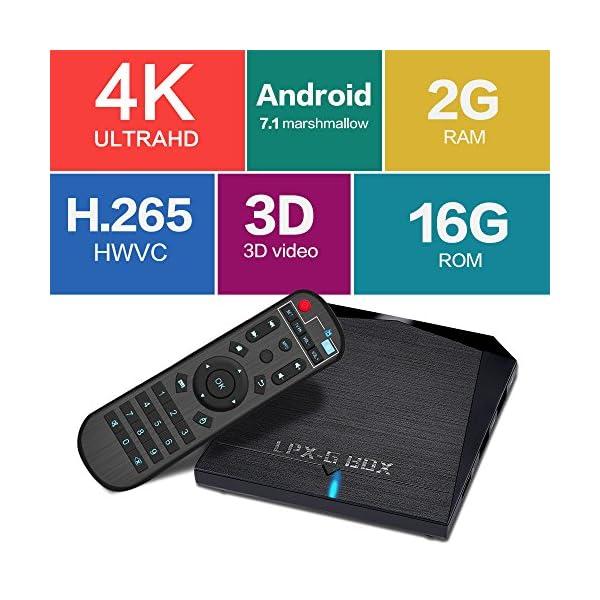 2017-LPX-G-BOX-2-Go-16-Go-Bluetooth-40-Bote-TV-Android-60-avec-tlcommande-4K-WiFi-Smart-TV-Box-avec-processeur-Quad-Core-64Bits-AmlogicS905X-Chip-Support-Real-4K-WiFi-24GHz-HDMI-20-Ethernet