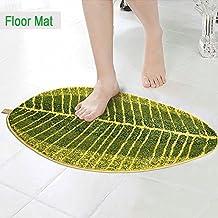 Verde hojas alfombra puerta alfombra suave Flexible suave alfombrilla de alfombra