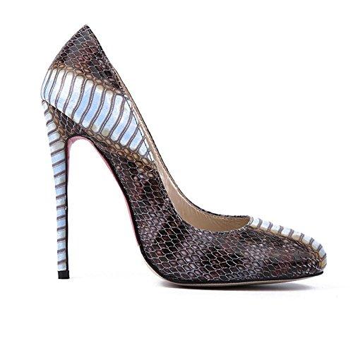 Serpente turno testa moda Lady scarpe tacco alto , 35