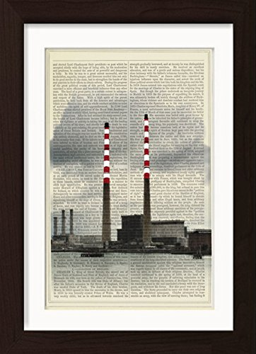 poolbeg-chimneys-dublin-mixed-media-print