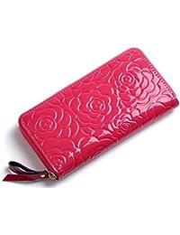 Brilliance Co Femme Cuir Floral Rosé Portefeuille, Femme Cuir Porte Monnaie