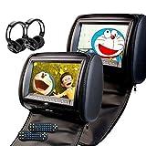 Eincar 9 Zoll LCD-Breit Digital Screen ultradünne Auto-Kopfstütze DVD-Player Multimedia-Kopfstütze Video-Player mit USB / SD-IR-Kopfhörer-Monitor und Fernbedienung (CH1001B + Y0101S) Beige