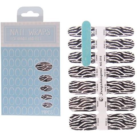 Diseño de estampado de cebra Fashion pegatinas de uñas