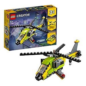 LEGO Creator AvventurainElicottero, Motoscafo e Aliante, Set da Costruzione3in1,Veicoli Giocattolo per Bambini dai 6 Anni in su, 31092  LEGO