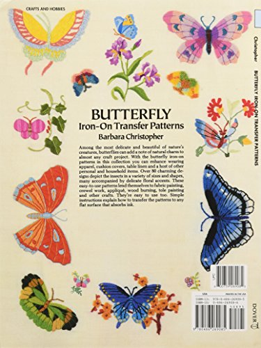 Butterfly Iron-on Transfer Patterns (Dover Iron-On Transfer Patterns)