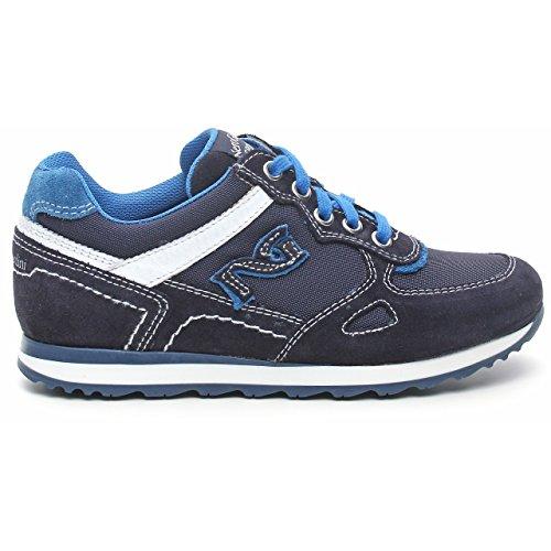 Nero Giardini Junior , Chaussures de ville à lacets pour garçon Bleu Blu Bleu - Blu (Cam. Colorado Indios)