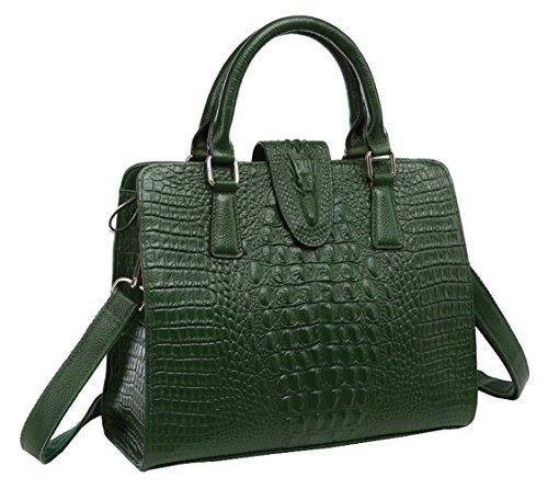 saierlong-had-womens-crocodile-dark-green-cowhide-commuter-bag-handbag-shoulder-bag