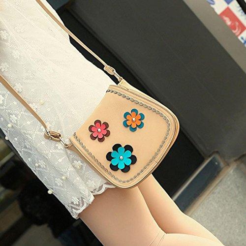 BZLine® Frauen Leder Tote Crossbody Handtasche Umhängetasche, 20*9*18cm Beige