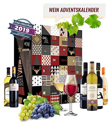 Wein Adventskalender mit 24 außergewöhnlichen Weinsorten aus aller Welt