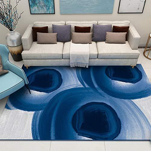 Qaq tappeto poliestere morbido peluche antiscivolo tavolino salotto ufficio camera da letto art,f,300 * 400cm