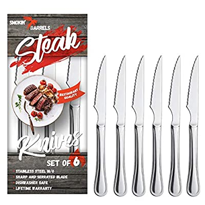 Smokin' Barrels - Vintage Steak Knives Set of 6